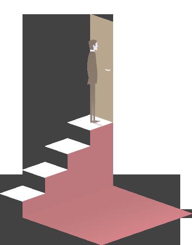 ilustração homemsubindo escada
